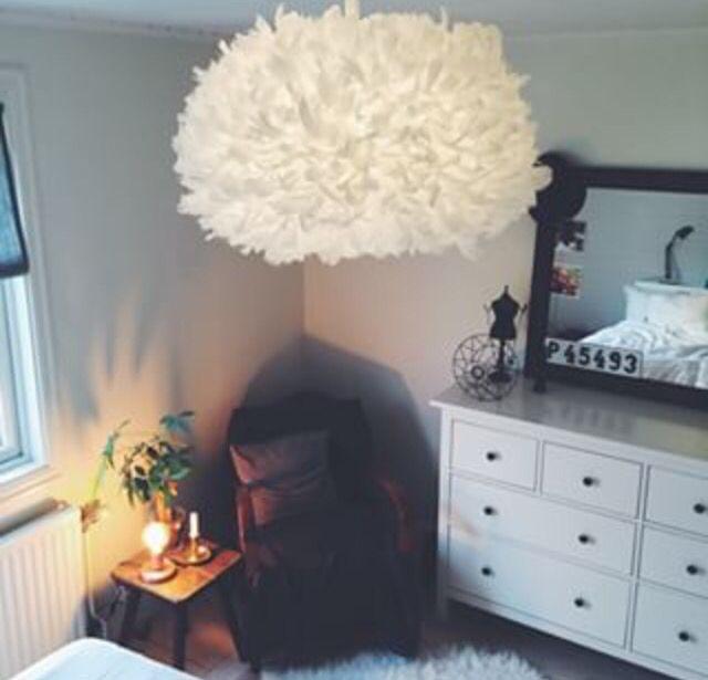 Fether lamp - fjäder lampa