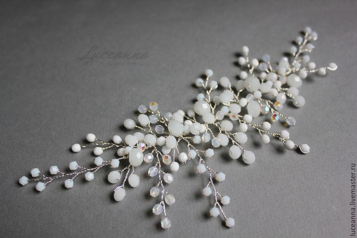 Купить Украшение для причёски невесты - белый, свадьба, свадебные аксессуары, свадебное украшение, для невесты, невеста