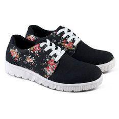 Varka Sepatu Casual Sneakers Flat Wanita 177 - Hitam