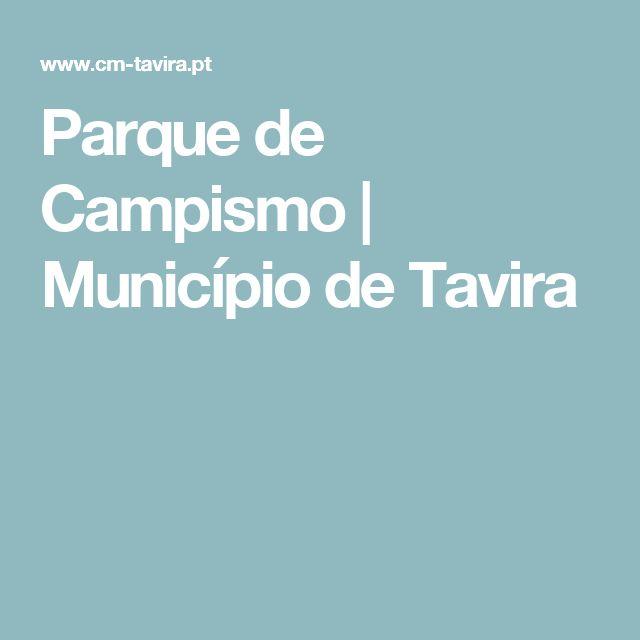 Parque de Campismo   Município de Tavira