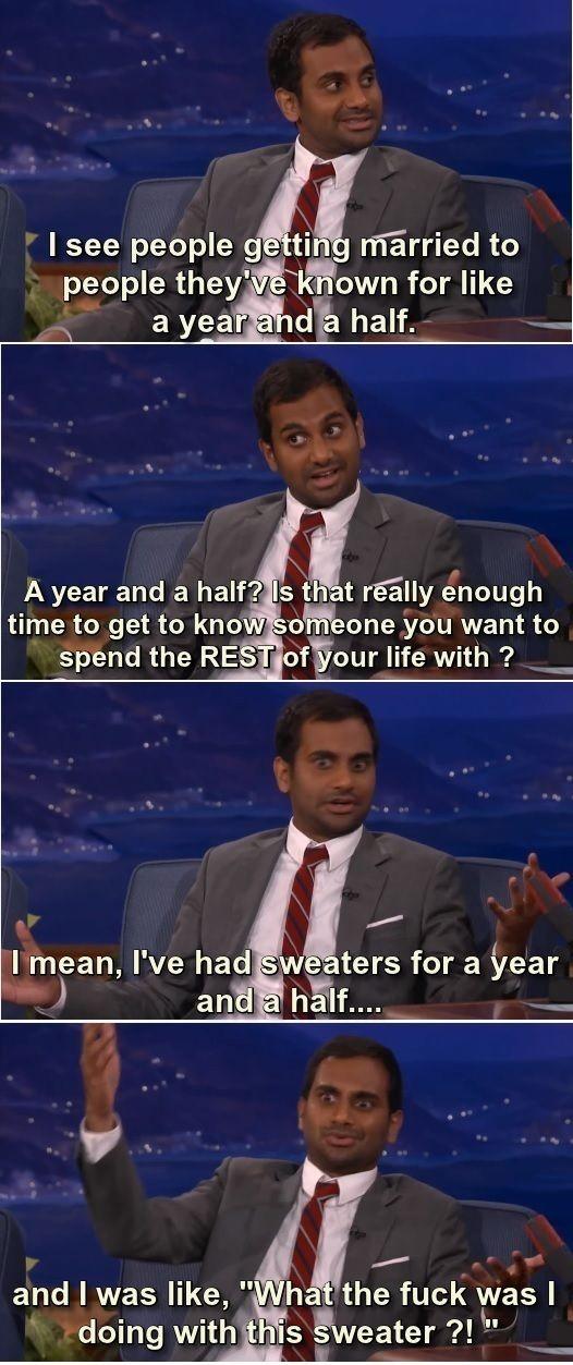 Aziz Ansari's Marriage Advice