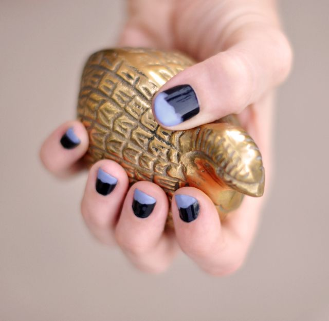 ...love Maegan:: Dip Painted Nails... or Messy French Tip Manicure Fashion + DIY + Lifestyle