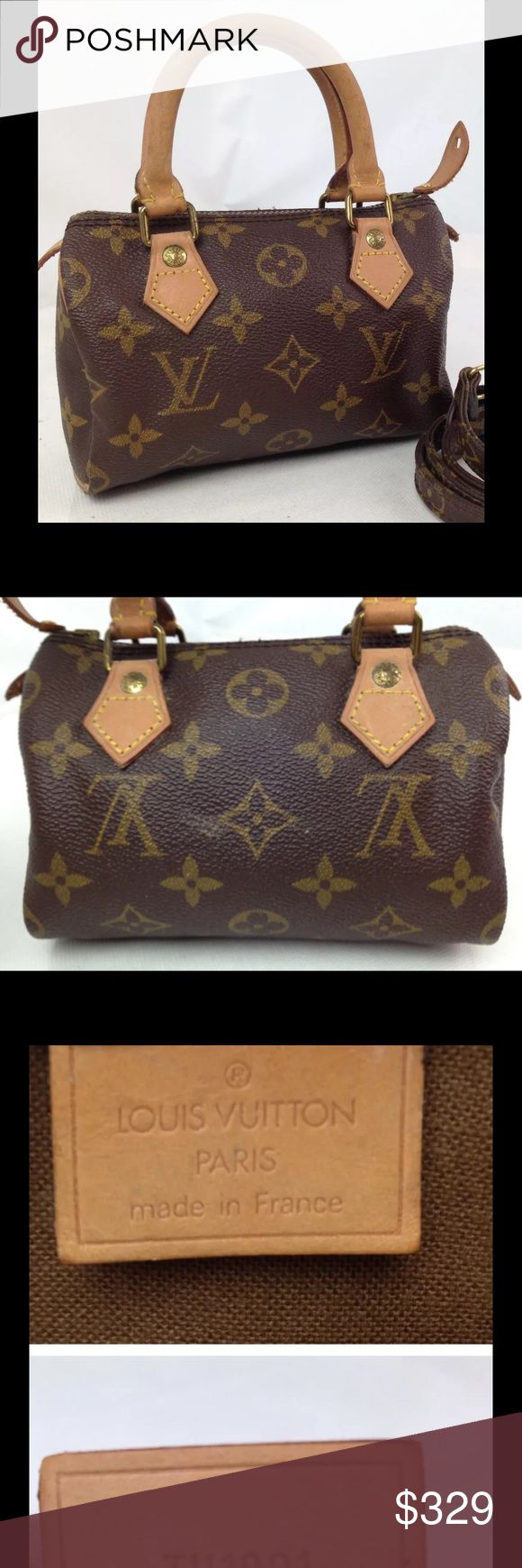 Authentic Louis Vuitton Mini Speedy nice and cute! Strap in separate listing. Authentic Louis Vuitton Speedy Mini. Nice inside and out and no damage! Special Bundle do not buy Louis Vuitton Bags