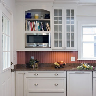 painted beadboard as a backsplash love this idea home