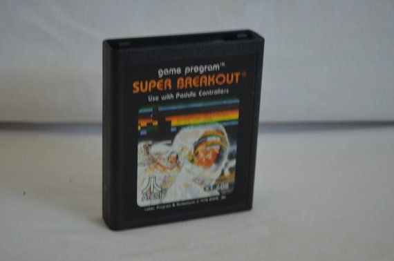 Atari 2600 Video Game Super Breakout by FloridaFinders on Etsy, $3.00