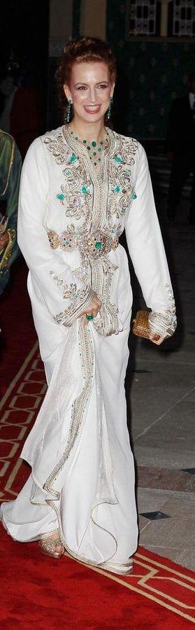 ROYALTIES La princesa LALLA SALMA, esposa del rey de Marruecos y madre del heredero, en un maravilloso caftan marroqui