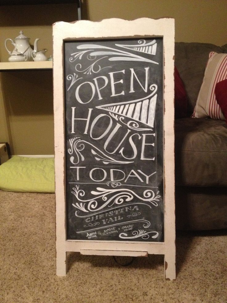 Chalkboard For Christina Vail For Christmas Open House