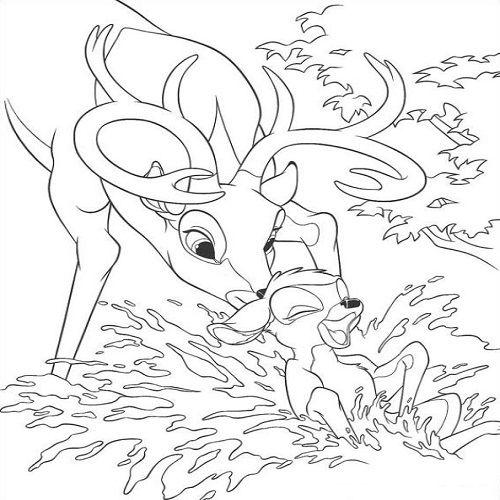 bambi ausmalbilder  pagine da colorare disney libri da