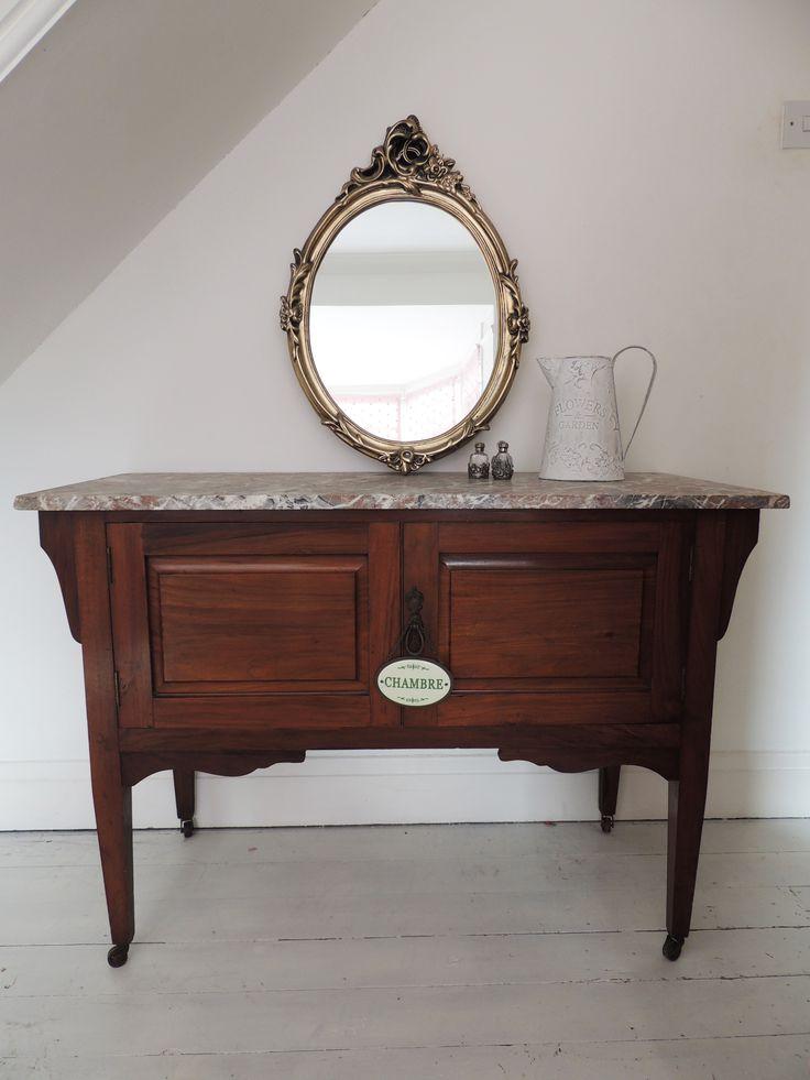 Vintage Marble Top Wash Stand ©OliviaRoseInteriors
