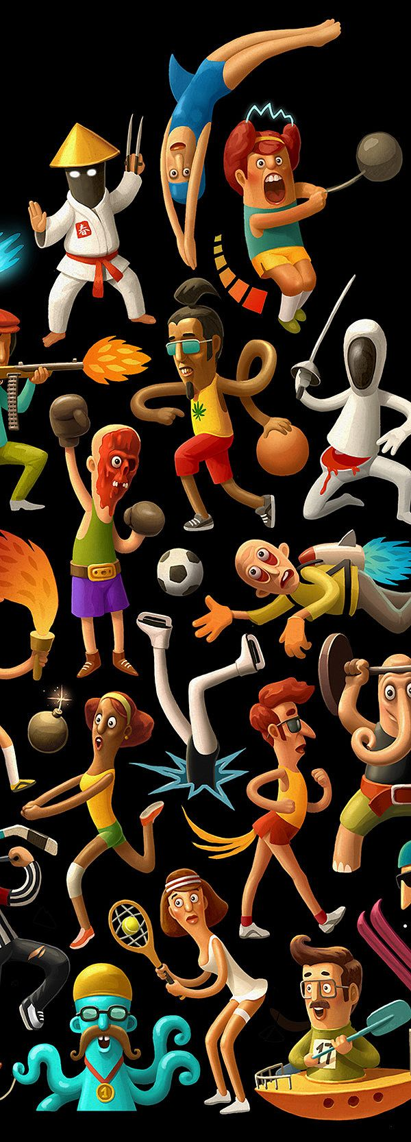 SPORT artwork by Andrey Gordeev, via Behance★ Find more at http://www.pinterest.com/competing/