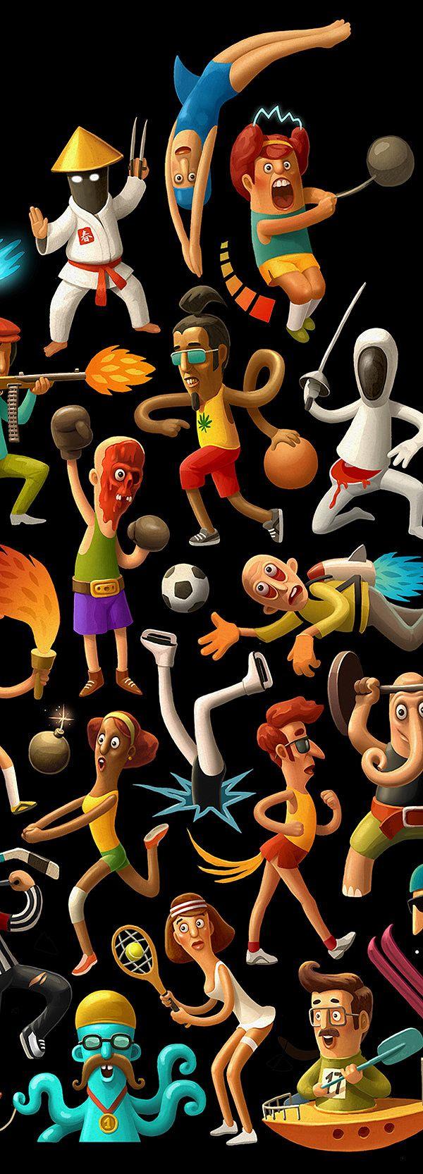 SPORT artwork by Andrey Gordeev, via Behance