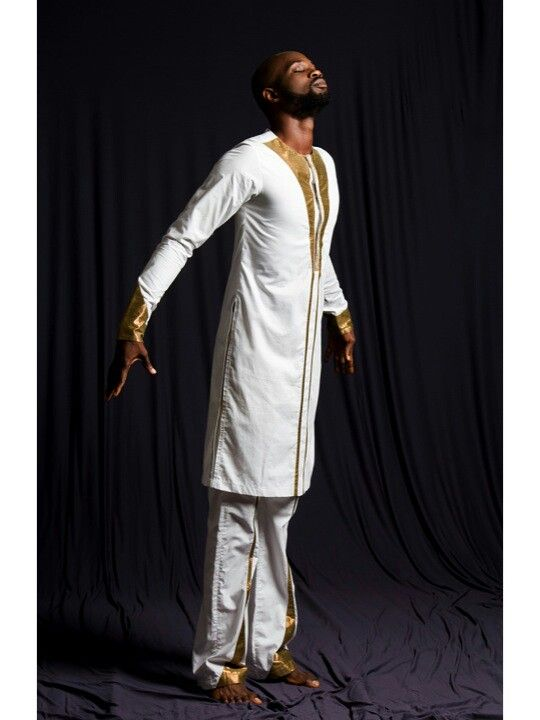 White man kaftan