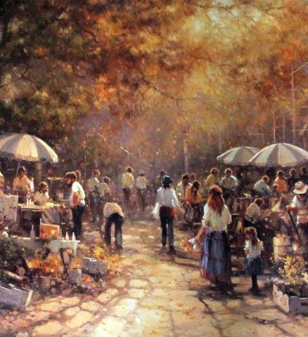 Saturday Markets Limited Edition Print by Ramon Ward-Thompson   Morpeth Gallery