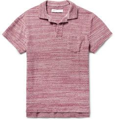 Orlebar BrownSlim-Fit Mélange Cotton-Terry Polo Shirt
