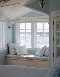 window seat. House at Harding Shores - traditional - bedroom - boston - by Polhemus Savery DaSilva