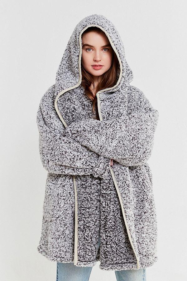 Uo Shaila Oversized Fuzzy Jacket Urban Outfitters Nancy