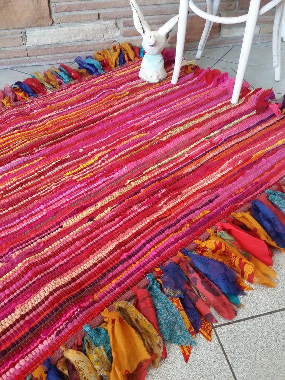 BOHO RUG Magic Carpet Rag Fringe Hippie Bohemian By HippieWild