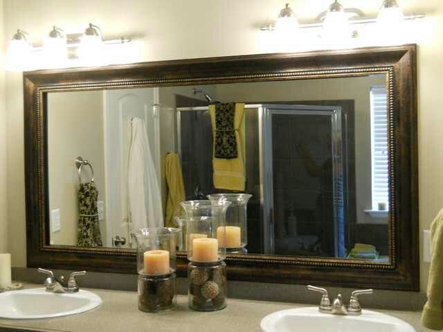Marvelous Framed Bathroom Mirror