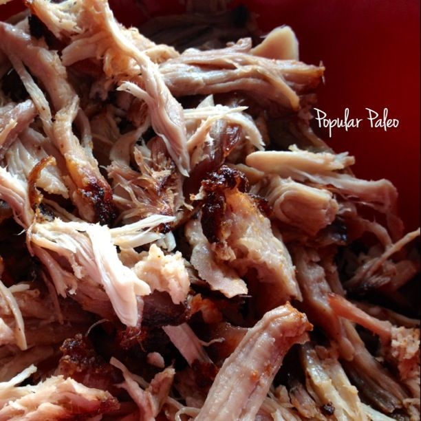 Pulled Pork made in the oven. #21DSD friendly too! | popularpaleo.com