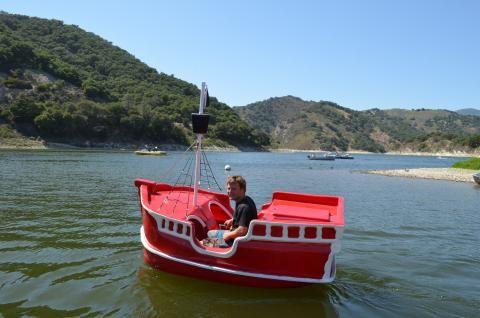 Pirate pedal boat