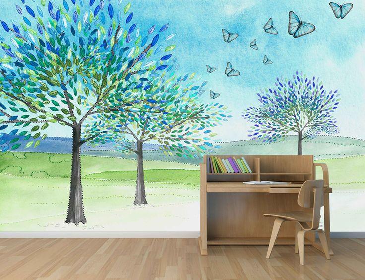 41 best wallpapers sweetlittledots by silvia betancourt for Mustertapete blau