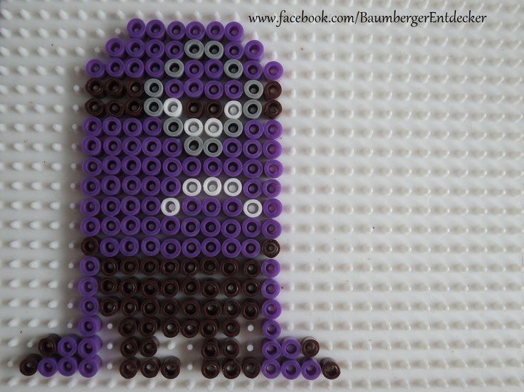 Lila Minion Bügelperlen Perler beads by Baumberger Entdecker - www.facebook.com/BaumbergerEntdecker