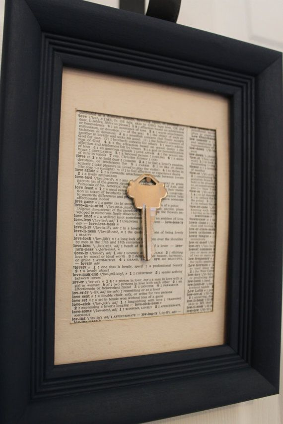 First house key framed with Joshua 24:15.  Precious