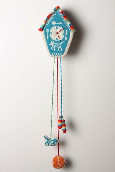 Fair Isle Sweater Clock! golly!