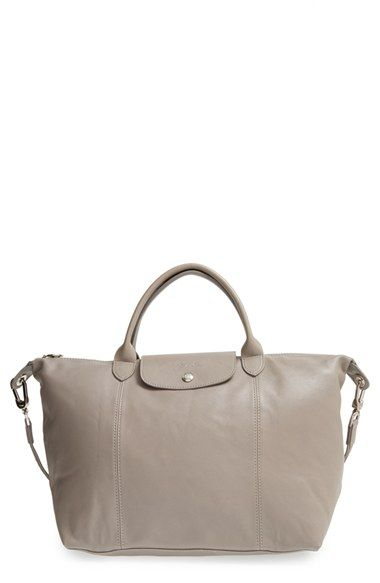 Longchamp 'Le Pliage Cuir' Leather Handbag available at #Nordstrom