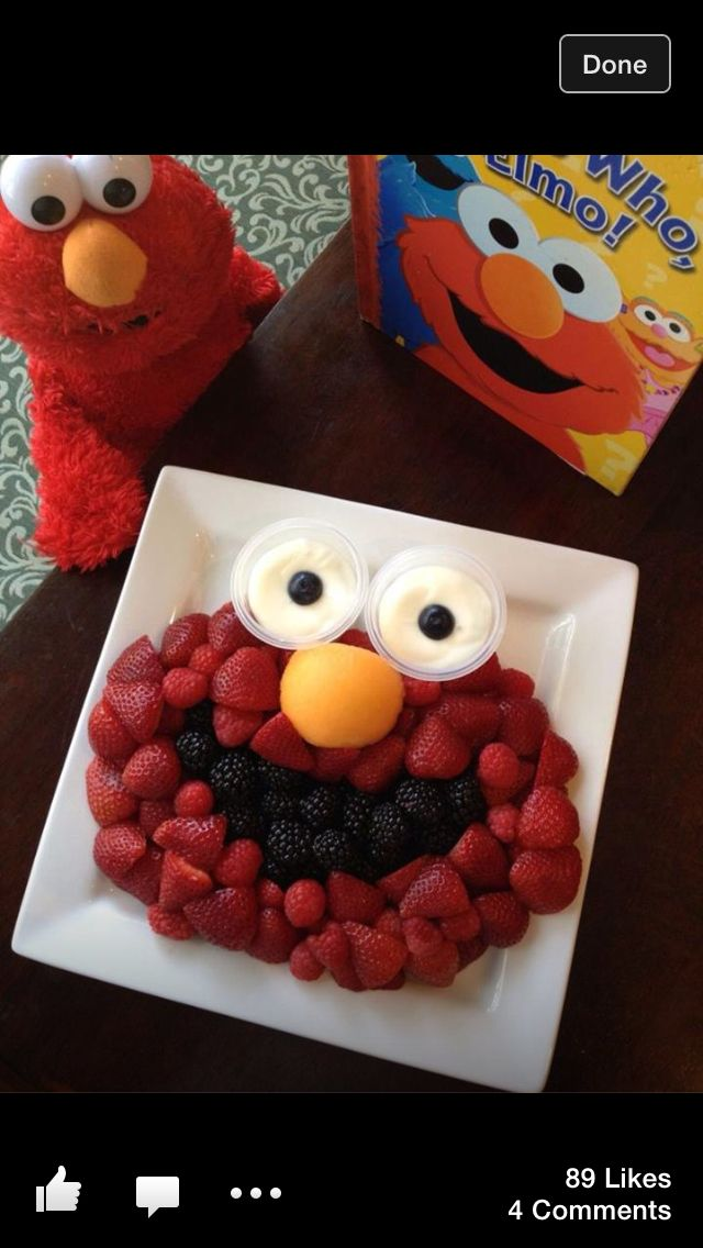 Elmo fruit plate