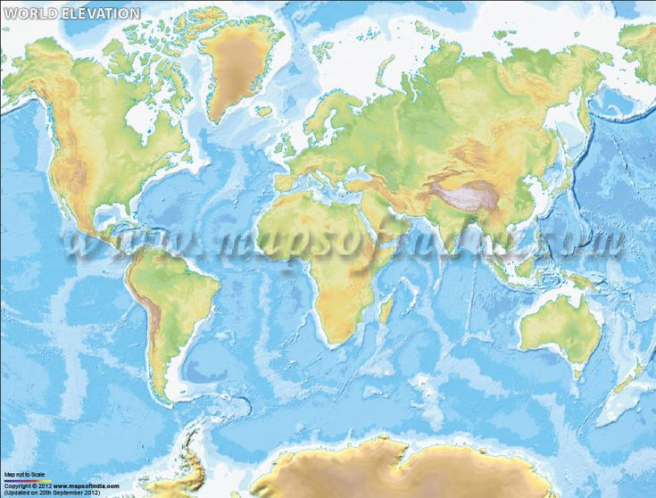 World Elevation Map | World Map | Map, Decoupage letters ...