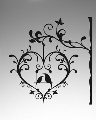 love the filigree Bird Graphics Silhouettes Pinterest