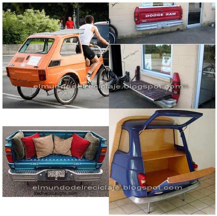 El mundo del reciclaje hecho con partes de autos - Reciclar muebles viejos ...