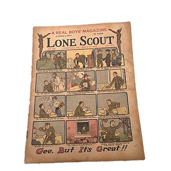 Gee, But It's Great, Lone Scout Newspaper, The Real Boys Magazine September 27 1919