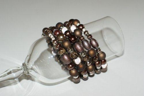 Brown Brown bracelet Brown jewelry Wrapped by LesBijouxLibellule