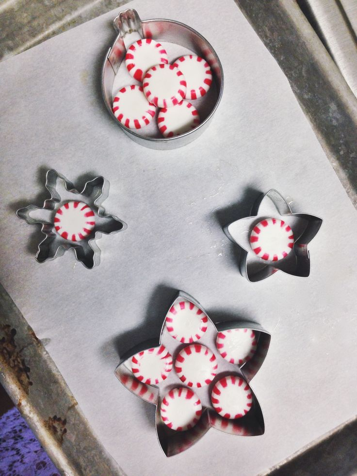 Peppermint Candy Christmas Ornaments. Could use crushed candy canes or old fashioned candy too.