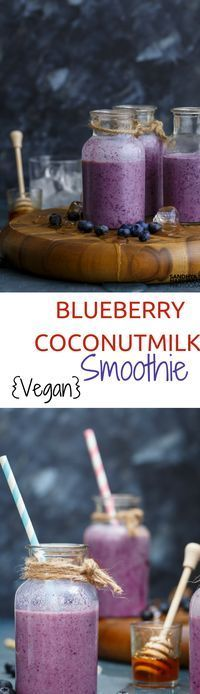 To a traditional Smoothie, Introduce Coconut Milk and give it a Vegan Twist. This recipe of Blueberry Coconut Milk Smoothie is kids friendly and can be whizzed up in 5 mins.