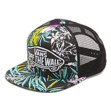32effa7fd Beach Girl Palm Camo Trucker Hat   Shop Womens Hats at Vans ...