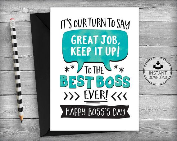 Boss's Day Card | Funny Boss's Day | Boss Appreciation Card | Bosses Day | Instant Download | Boss's Day | Printable Cards | Greeting Card | Super Boss | Best Boss