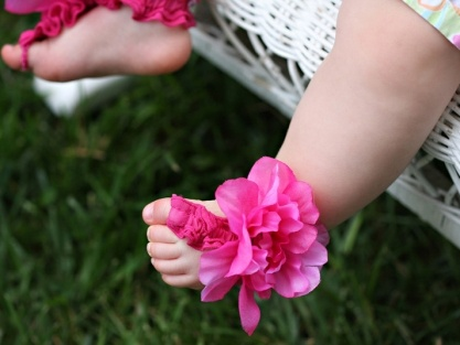 Toe Blooms for baby