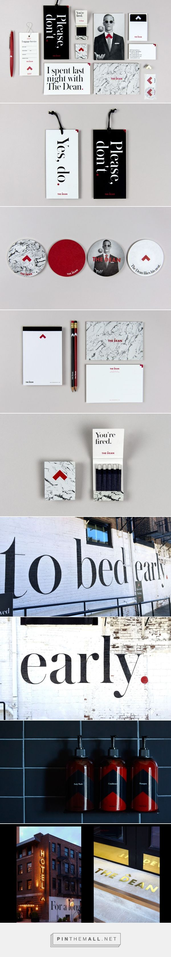 The Dean Hotel Branding by Watson & Co. | Fivestar Branding Agency – Design and Branding Agency & Curated Inspiration Gallery