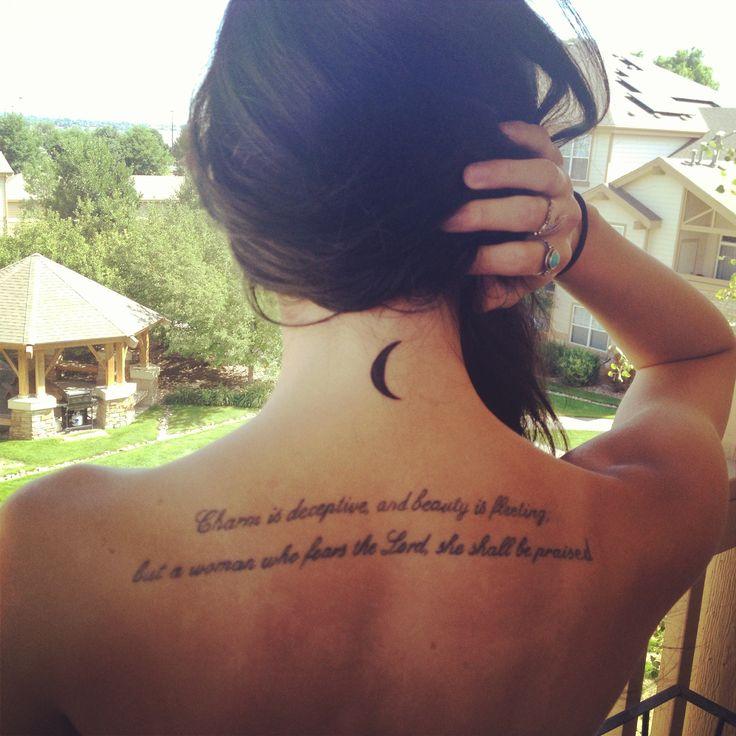 New Tattoos Quote: New Beginnings- Crescent Moon Tattoo