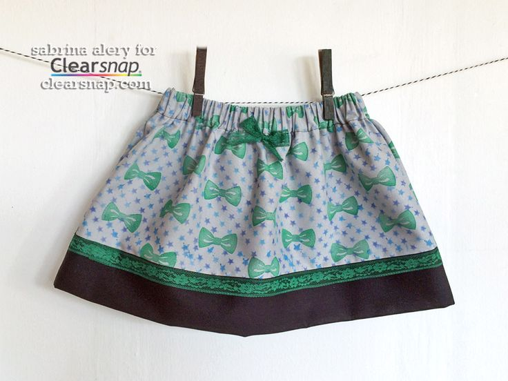 Design your own patterned fabric for a stamped and stenciled toddler skirt using Colorbox® Crafter's ink! It's a cinch to stitch one up and is sure to make any little girl smile. Sabrina shares a quick tutorial in the Clearsnap blog, check it out: http://blog.clearsnap.com/2014/12/stenciled-toddler-skirt-stars-bows/ | Stenciled Toddler Skirt with Stars & Bows