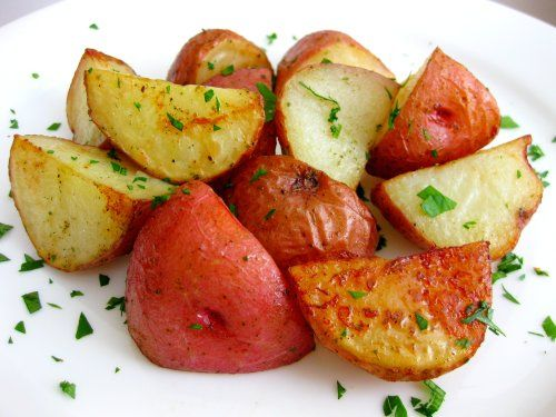 Parmesan Roasted Potatoes ~ made this last night. So very, very good ...