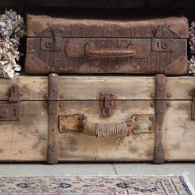 229 best Trunks and Suitcases images on Pinterest | Vintage trunks ...