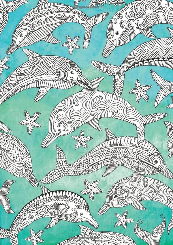 Adult Coloring Pages Books Whale Sharks Smash Book Zentangle Dolphins Doodle Anti Stress