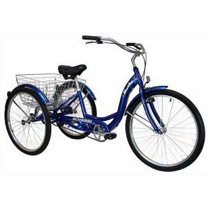 Granny adult tricycle - I don't care how old this makes me - I want one.