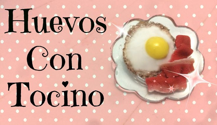 Huevos Con Tocino / Tutorial de porcelana fría.