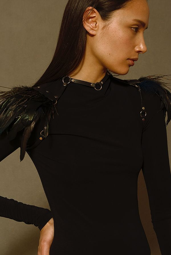 Naughty Flight - Feather Shoulders via Tineola. Click on the image to see more!
