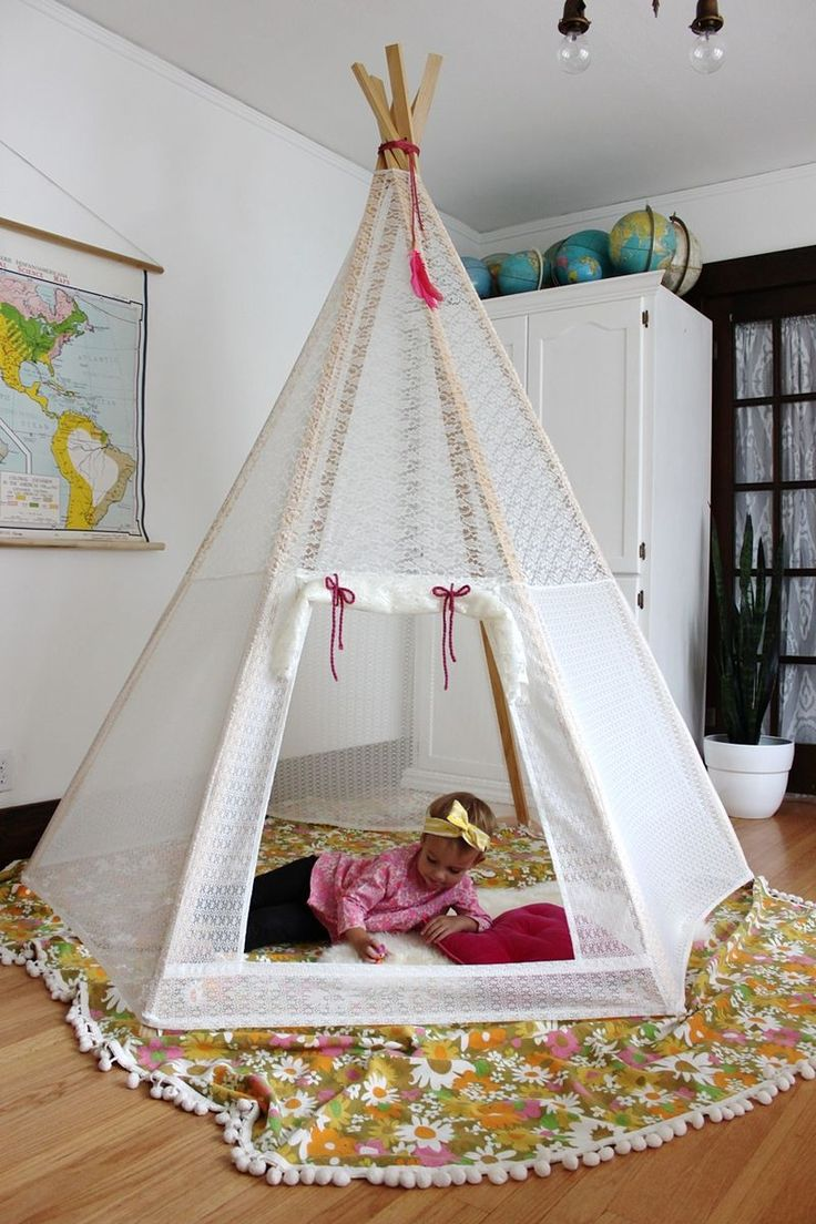 DIY Teepee (A Beautiful Mess)